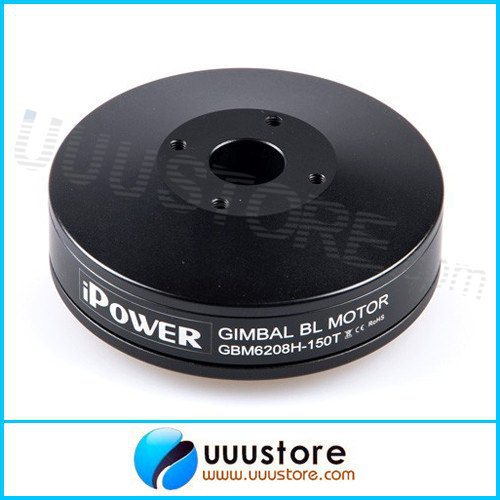 iPower Gimbal Brushless Motor GBM6208H-150T Hollow Shaft with Slipring for FPV Aerial Photography hj5208 75t brushless gimbal motor for 5d2 camera fpv aerial photography black