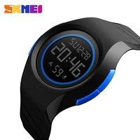 Skmei estudiante reloj digital LED Relojes deportivos impermeable moda al aire libre Relojes de pared cronómetro de pulsera Relojes Hombre Relogio Masculino