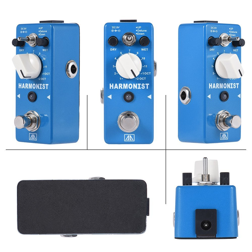 AROMA AHAR 5 HARMONIST Pitch Shifter Guitar Effect Pedal 3 Modes Pitch Shifting Harmony Effects Aluminum Alloy Body True Bypass-in Guitar Parts & Accessories from Sports & Entertainment    3
