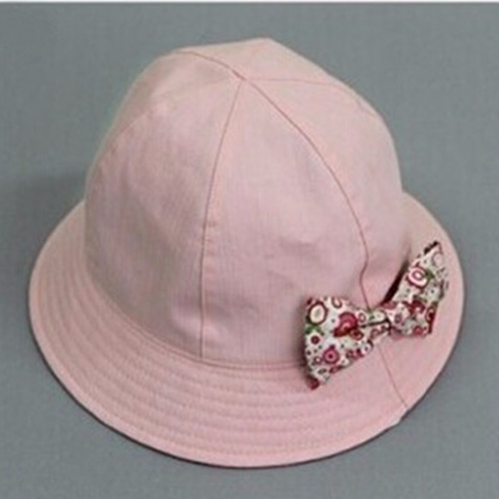206040f179d Puseky 2018 New Flower Print Cotton Baby Summer Hat Kids Girls Floral  Bowknot Cap Sun Bucket Hats Double Sided Can Wear gorro-in Hats   Caps from  Mother ...
