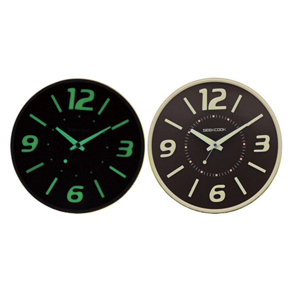 Aliexpress buy geekcook wall clock glow in the dark home aliexpress buy geekcook wall clock glow in the dark home decor watch silence 118 from reliable wall clock glow suppliers on xhere coko store amipublicfo Images