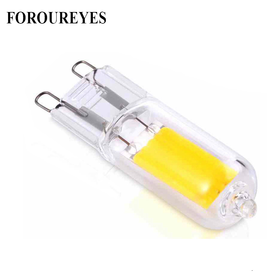 The New G9 Led Lamp Dimmable 110V 220V COB Lamp Glass Body Ultra Bright LED Source light  Replace Old Halogen bulb free shipping led tube 4pin linestra 2g11 dimmable lamp pll lamp pl bar 9w 12w 16w 22w 110v 220v 225mm 320mm 415mm 540mm replace halogen