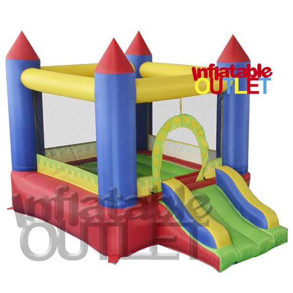 Mini residenital casa do salto castelo bouncy castelo inflável salto bouncer slide frete grátis