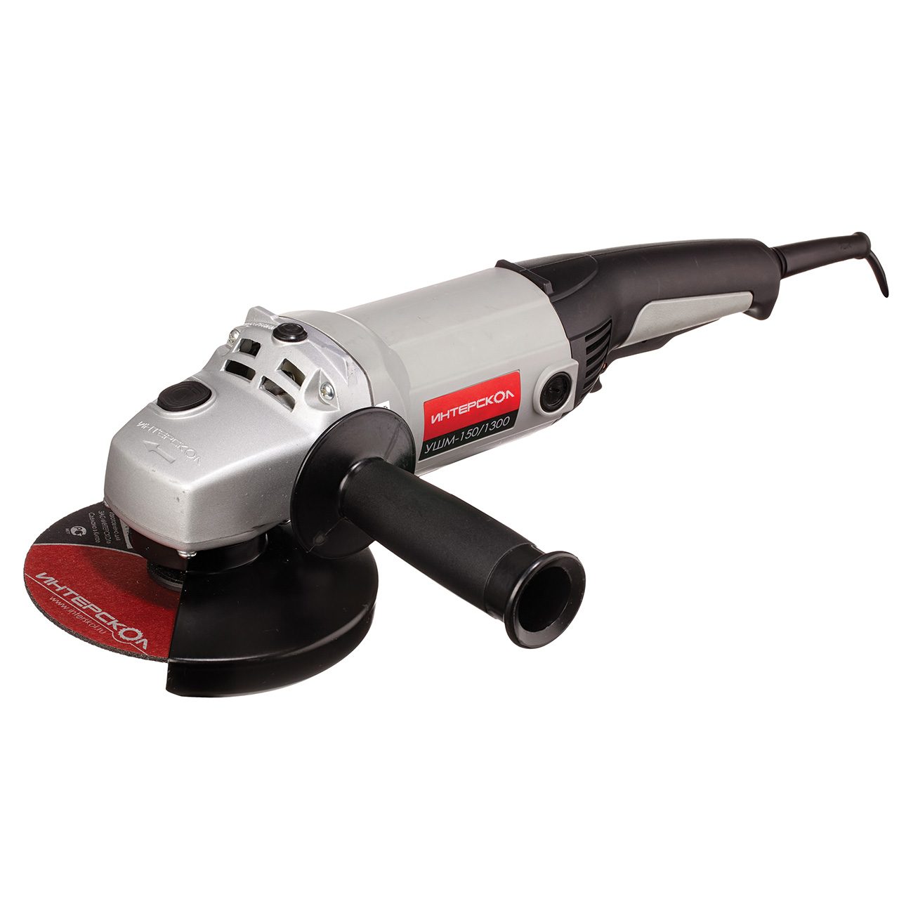 Angle grinder Interskol USHM-125/150/1300 (Power 1300 W, 150mm, replacement)