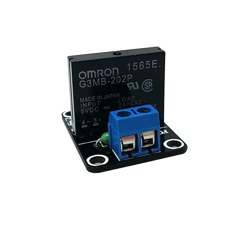 5V 1 Channel OMRON SSR G3MB-202P Solid State Relay Module 240V 2A Output with Resistive Fuse For Arduino M63 (1PCS)