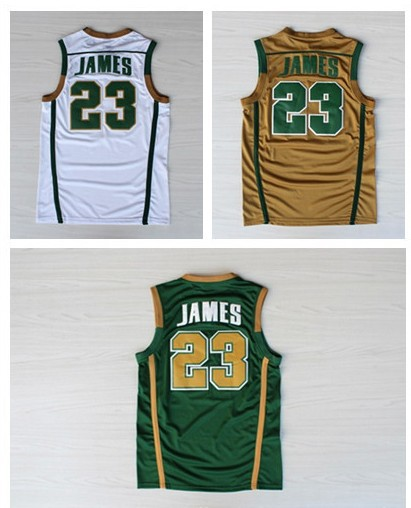 sale retailer 83963 ef2ff High School Jersey St. Vincent Mary Gold Green White 23 ...