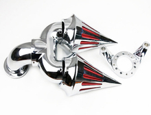 For Motorcycle HARLEY CV CARB DELPHI V-TWIN EFT SPORTSTER CHROME Double SPIKE AIR CLEANER