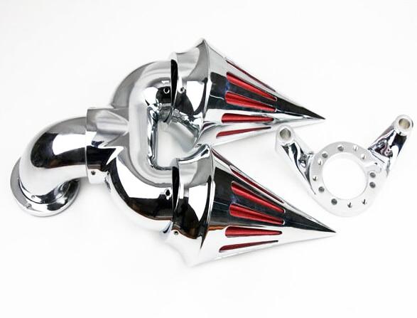 Para motocicleta HARLEY CV carburador DELPHI V-TWIN EFT SPORTSTER CHROME doble filtro de aire pico
