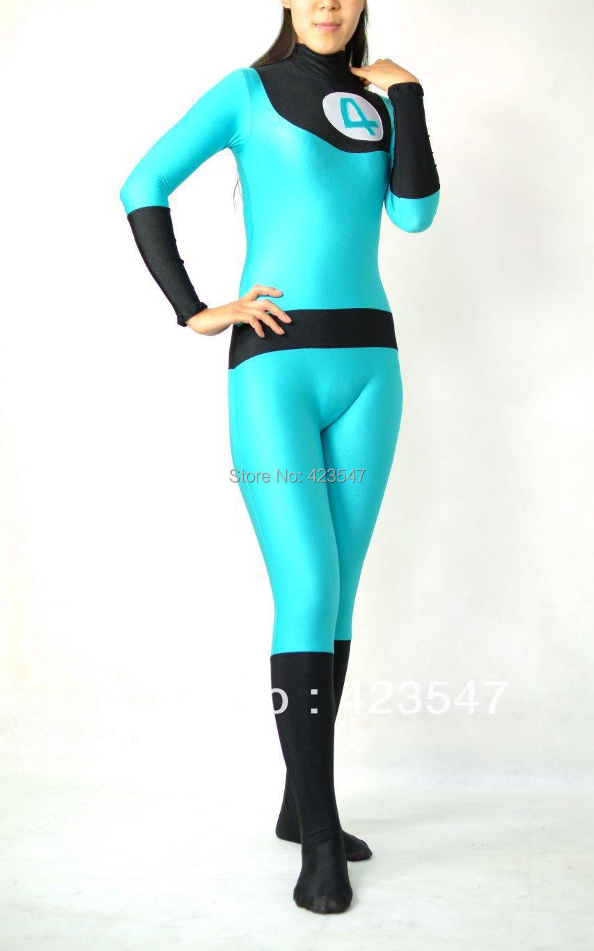 Halloween female version of The Fantastic Four cospaly Lycra tights zentai activities and performances play props