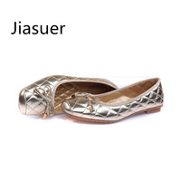 Jiasuer Size 35-41, 2017 Famous Designer Women's Casual Shoes Fashion Simply Style Women Flat Shoes Woman Loafers