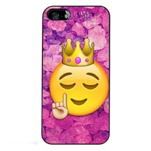 Funny Queen Emoji Hot Fashion High Quality Black Bag Case For iPhone 6S Plus