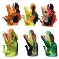 Guantes de animales Marioneta de Mano Muñecos de Dinosaurio De Goma Mano Marionetas de Cuentos Atrezzo Divertido juguete Animal de la Simulación Dinosaurios Muñeca