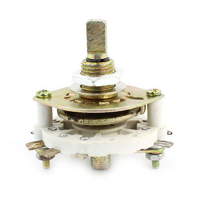 White Ceramic 2P3T 2 Pole 3 Throw Band Channel Rotary Switch Selector uxcell kcx2 6 10mm mounting hole dia 2p6t 2 pole 5 way two decks 14pin band channael rotary switch selector