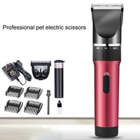 Professional Electric Rechargeable Pet Trimmer Cat Dog Clipper Grooming Cutters Machine For Animal with 3 6 9 12mm Limit Comb
