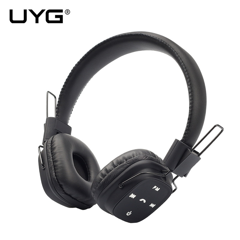 UYG TM-022 Noise Cancelling Bluetooth Headphones Wireless Stereo Headset Headphones with Microphone FM Radio for smart phone mee audio matrix3 af68 stereo wireless bluetooth headphones with microphone active noise cancelling headset headphone for phone