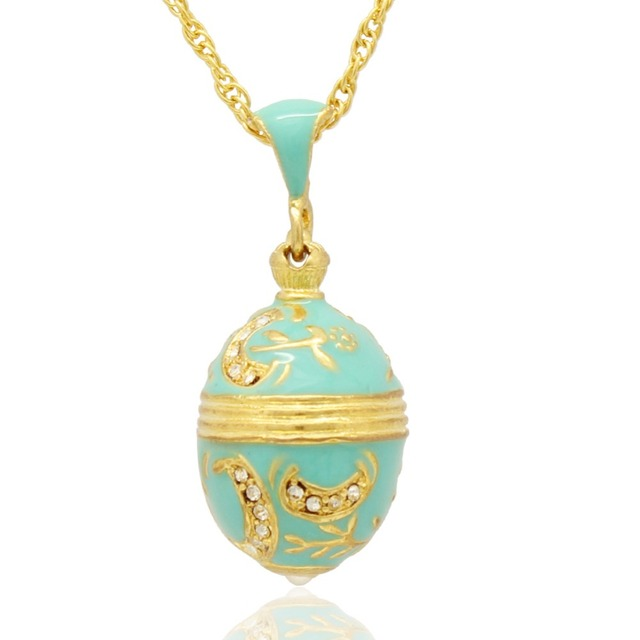 Suitable for european jewelry brand necklace light blue enamel suitable for european jewelry brand necklace light blue enamel moon handmade russian egg pendant necklace mozeypictures Gallery