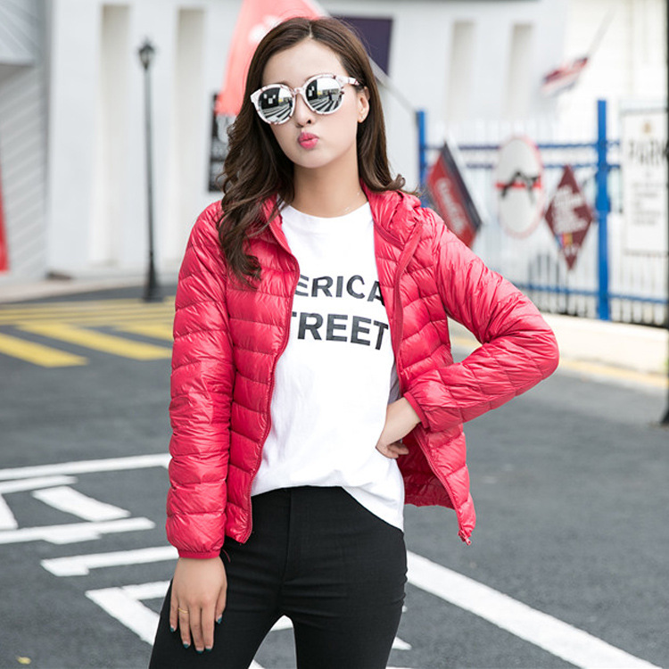 Down     Coat   Female Jacket Women New Slim Winter White Doudoune Femme Women's Blend   Coat   Ultralight Jacket Lightweight Soft