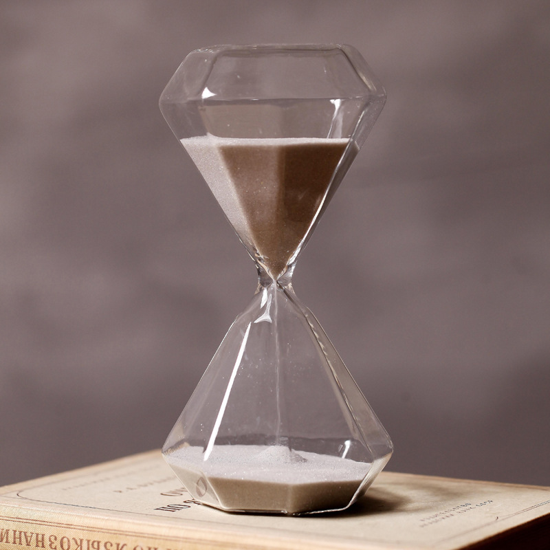 30 minutes silver sand transparent glass hourglass sand timer