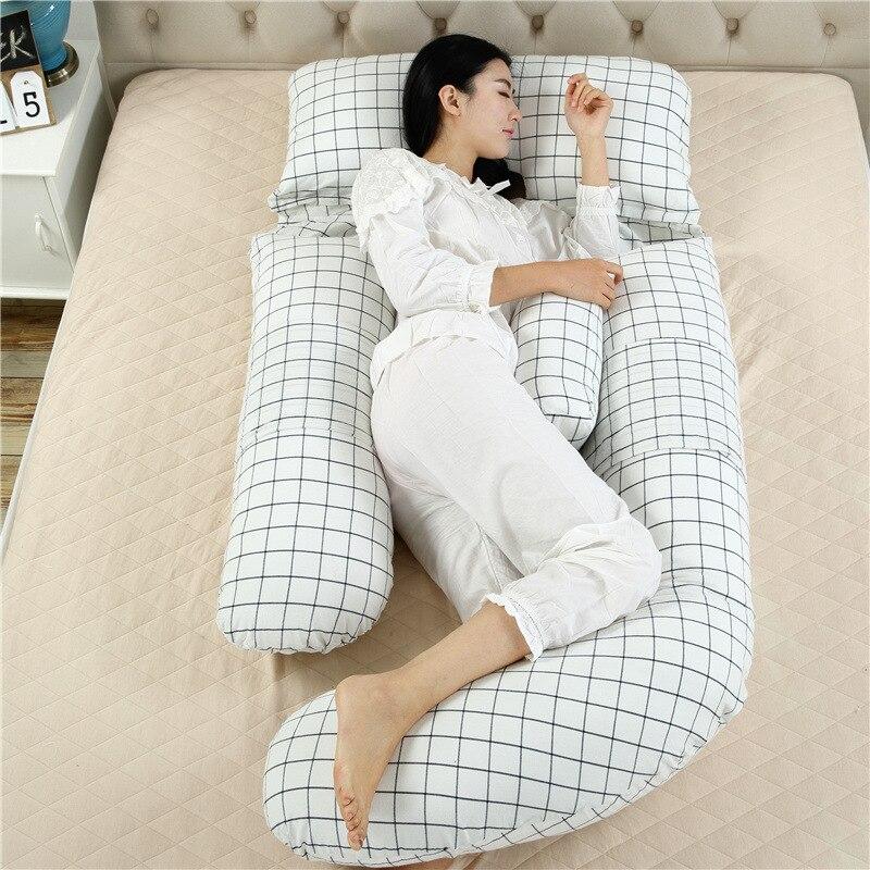 Хлопковая Длинная Подушка для беременных в форме G, подушка для тела на танкетке, подушка для путешествий, подушка для сна, Подушка для спины,...