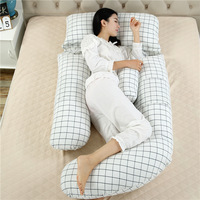 cotton G shape pregnancy long pillow maternity wedge body pillow travel bed pillow body for sleeping back cushion for back pain