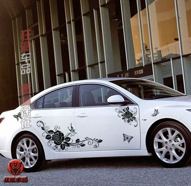 XYIVYG Apply To Universial Car Whole Body Sticker Decor Vinyl Decals Auto Universal Styling Flowers