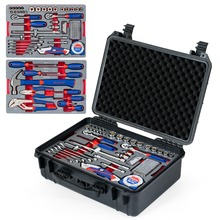 WORKPRO 110PC Home Tool Set Ratchet Wrenches Sockets Pliers Screwdrivers Knives Tape Combination Tool Kit Waterproof