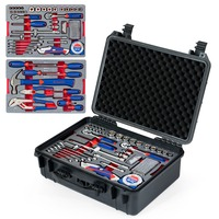 WORKPRO 110PC Tool Set Hand Tools Home Tool Box Set Waterproof Case