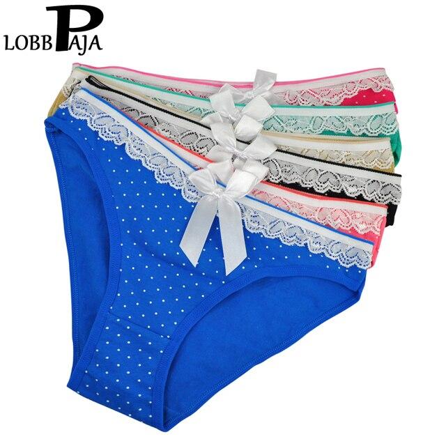 LOBBPAJA ropa interior de mujer Sexy bragas de algodón cinta bonita lunares  bragas íntimas Lencería señoras 814c8ae6302c