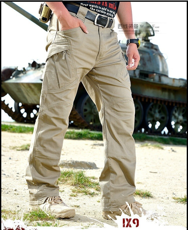 87 Cargo Pants Men Combat SWAT Army Military Pants Cotton Many Pockets Stretch Flexible  ...