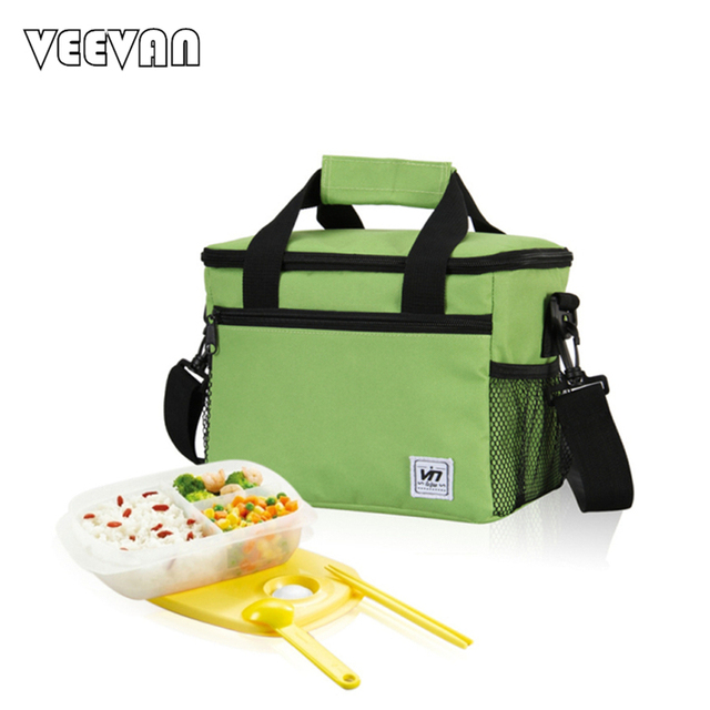 Square Thermal Bag Women / Men Lunch Bag Cooler Beam Port Lunch Box Lady Handbag Children / Kids Lunch Bags / Insulation Package