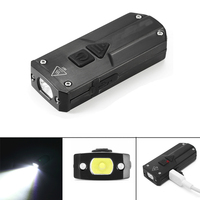 Jiguoor K1 SS XP G3 365nm UV Red LED 250LM USB Rechargeable Mini LED Keychain Light