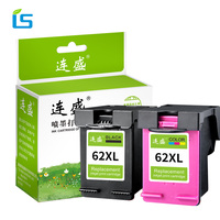 2Pcs 62XL Refilled Ink Cartridge Replacement for HP 62 XL Compatible for HP Envy 5640 OfficeJet 200 5540 5740 5542 7640