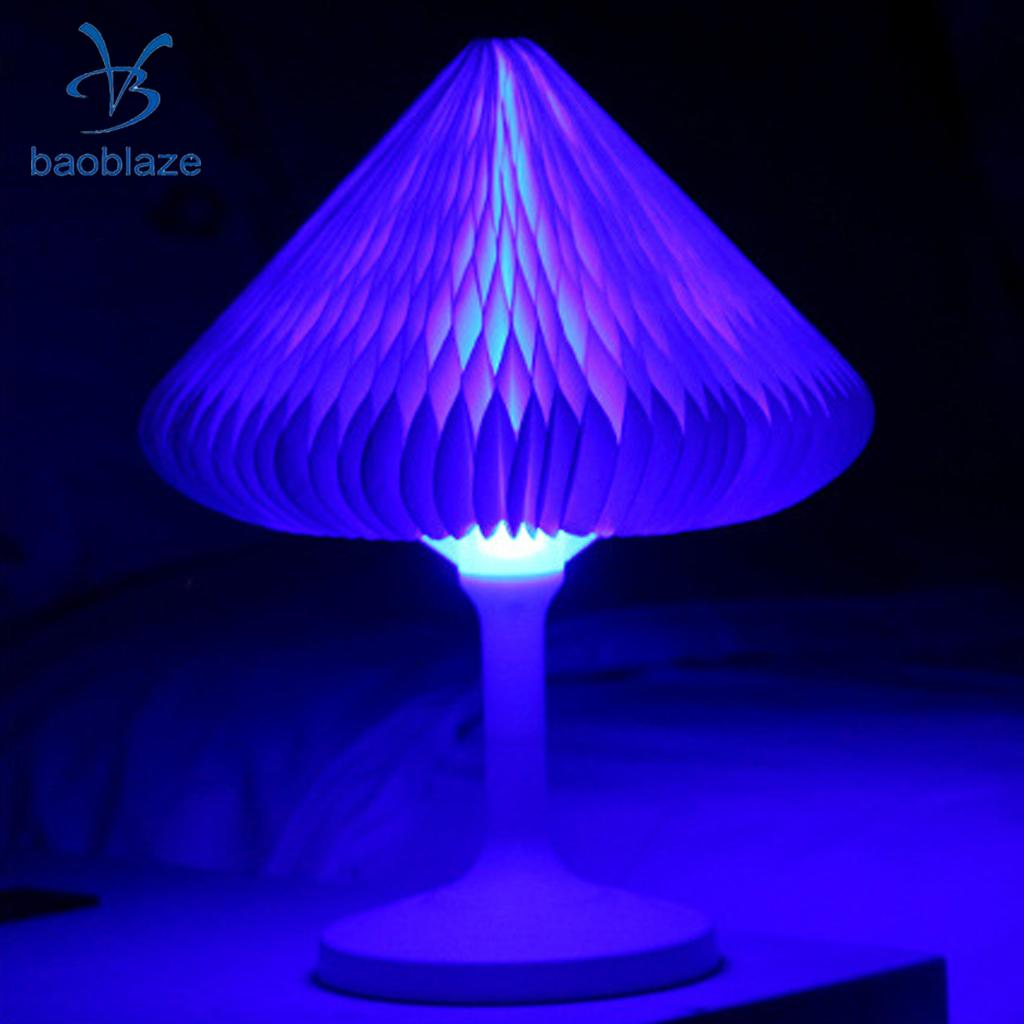Baoblaze USB DC5V1A LED Desk Lamp Color Change Shape Change Paper Folding Night Light silver wings silver wings 31mc0198 38 44