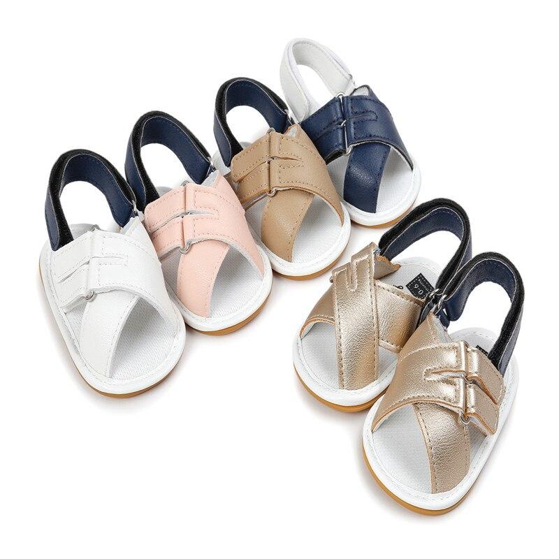 Summer Infant PU læder Baby mocassins hot moccs soft bottom non slip-on baby pige sandaler 0 ~ 18 måneder CX69A