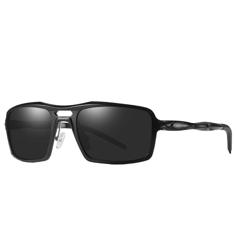 2019 New Sport Sunglasses Men Polarized Sun Glasses Oversized Goggle Sunglasses Aluminium Magnesium Alloy Eyewear Polaroid Lens 2