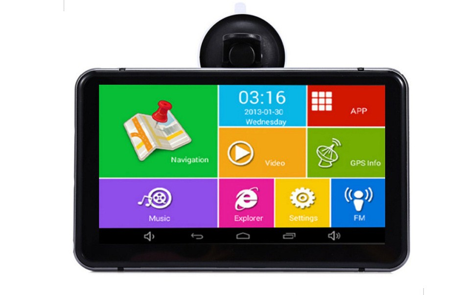7 Inch Bluetooth Vehicle Android GPS Navigation Car DVR Dash Cam Video Recorder 512MB 8GB AV-IN WIFI Truck GPS Navigator Free Map -07