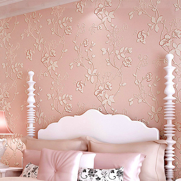 Modern Garden Flower Print Living Room Bedroom Wallpaper Roll 3D ...
