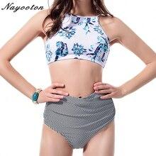 High waist Swimsuit bikini 2019 Hot Sexy women Bikini set Halter Beachwear brazilian Bathing Suit print Swimwear plus size 2XL