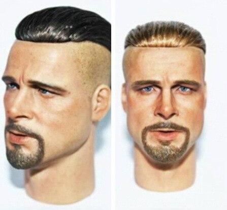 dreamer 1: 6 scale Brad Pitt head sculpt Mohicans hairstyle Black hair and golden hair for 12inch doll  accessories diy brad mehldau brad mehldau trio blues and ballads