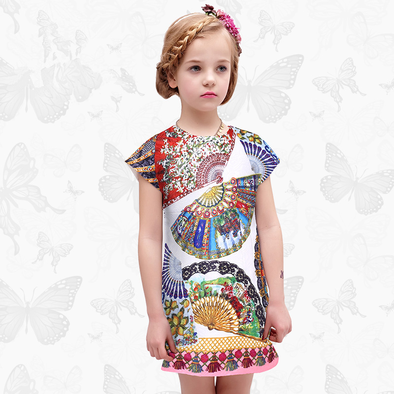 Toddler Girls Dresses Children Clothing 2017 Brand Princess Dress for Girls Clothes Fish Print Kids Beading Dress 1 23 azj 5cm 3 5g 8pieces lotlaser sinking slowly minnow fishing lure wobbler artificial fly hard bait carp crankbait fishing tackle