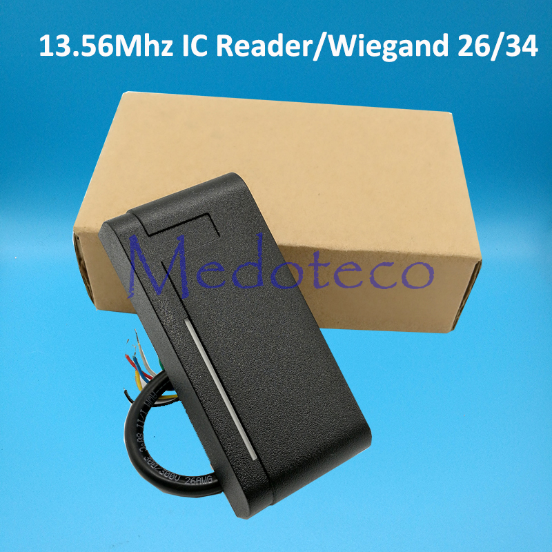 10pcs Waterproof 13.56Mhz IC Contactless Smart Proximity Card Reader Access Control Weigand 26/34 IP65 IC Slave Reader waterproof ip65 13 56mhz ic card