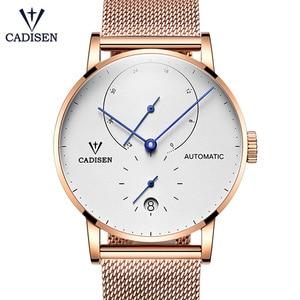Image 3 - Cadison montre automatique en acier, horloge automatique, réserve électrique, bracelet décontracté Mesh, tendance