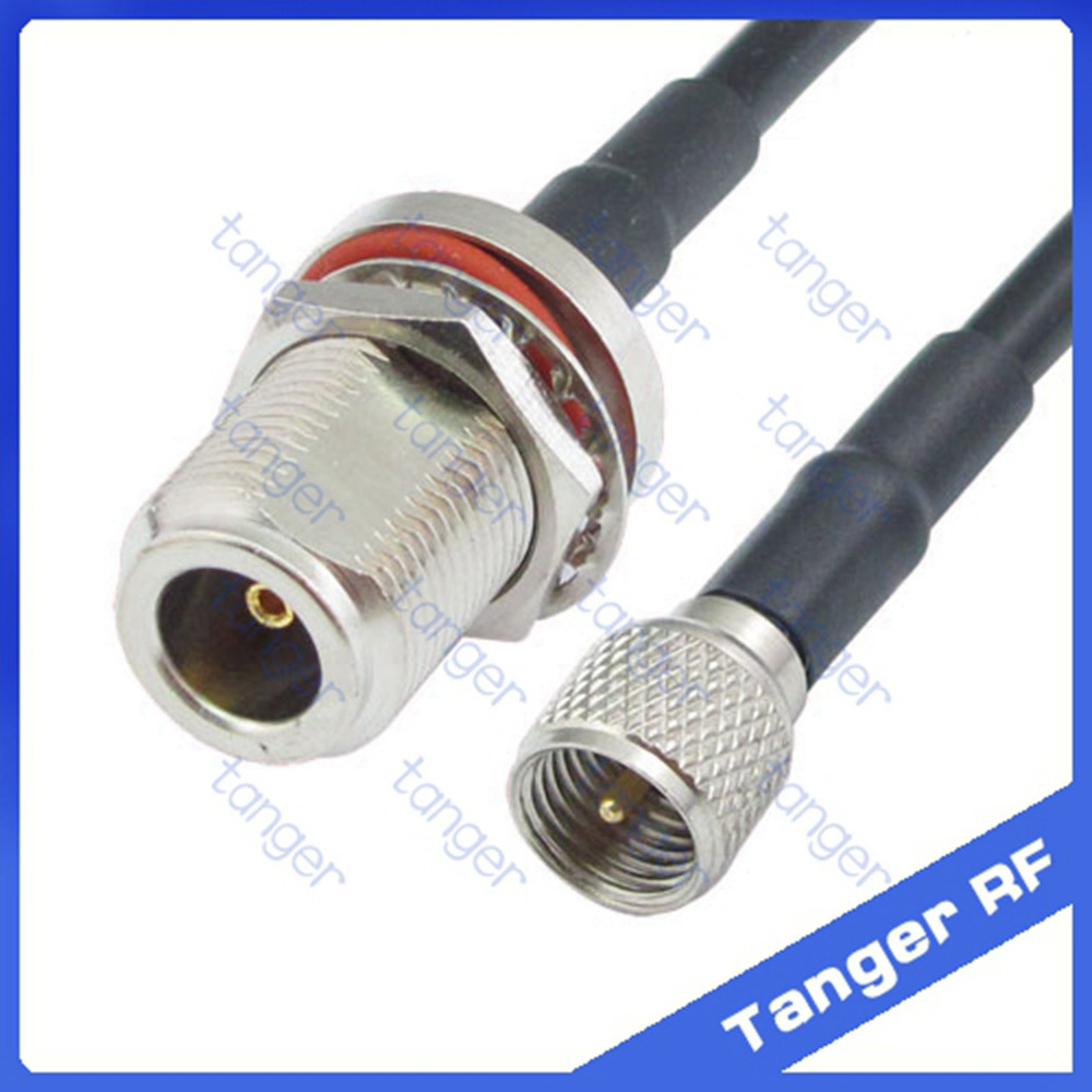 Mini UHF male plug PL259 SL16 to N female jack waterproof with nut straight RF RG58 Pigtail Jumper Coaxial Cable 20inch 50cm new dhl ems 5 sets cable n male plug to n female jack straight ksr195 jumper pigtail 9m h2