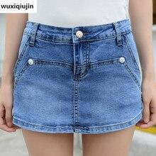 2017 летние джинсовые шорты середине талии джинсы женщин горячей продажи бойфренд голубые джинсы для женщин плюс размер 3xl