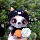 Plush Baby Monkey Turned Black Cat Doll Stuffed Animal Toy Children Toys Birthday Gifts