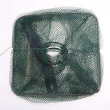 1 Pcs Foldable Net Cage For Crab Fish Crawdad Shrimp Minnow Fishing Bait Trap Cast Dip Fishing Tools