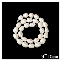Top AAA Natural Freshwater Pearl Rib Rice Beads Fashion Straight Hole European Charm Bead For Kids