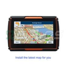 2016 latest Moto GPS Navigator High quality Motorcycle gps Navigation Waterproof IPX7 Bluetooth with FM Free Maps