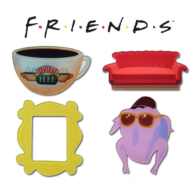 Us 8 98 New Friends Central Perk Sofa Coffer Mug Monica Door Photo Frame Turkey Acrylic Refrigerator Stickers Magnets In Figurines Miniatures From