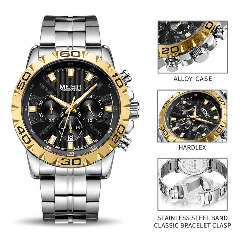 6cbf71fb4 2019 New MEGIR Watch Men Chronograph Quartz Business Mens Watches Top Brand  Luxury Waterproof Wrist Watch Reloj Hombre Saat-in Quartz Watches from  Watches ...